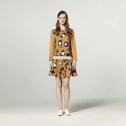 Pullover in Animal Print, $34.99; Silky Skirt in Animal Print, $29.99
