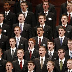 The missionary choir sings during the 182nd Annual General Conference for The Church of Jesus Christ of Latter-day Saints at the LDS Conference Center in Salt Lake City on Saturday, March 31, 2012.