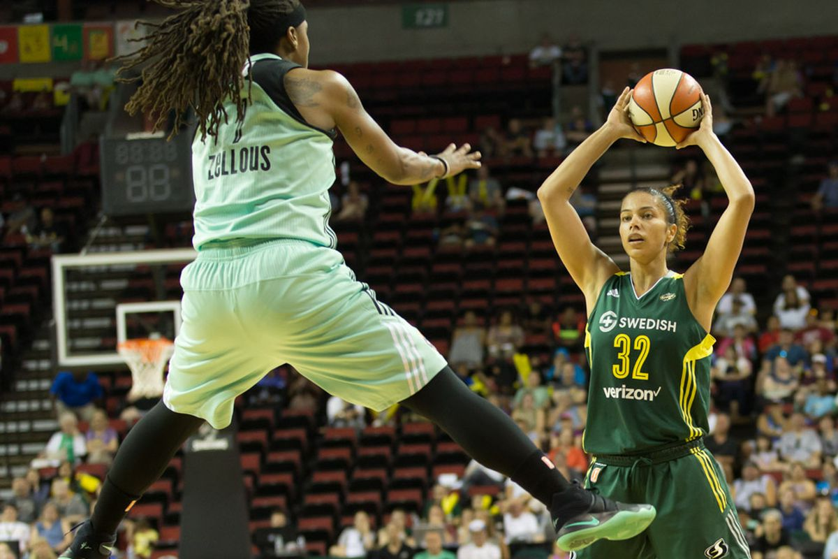 Alysha Clark led the Storm with 23 points, but it wasn't enough to beat the Liberty.