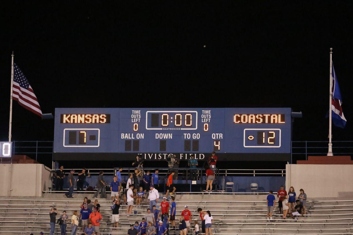 COLLEGE FOOTBALL: SEP 07 Coastal Carolina at Kansas