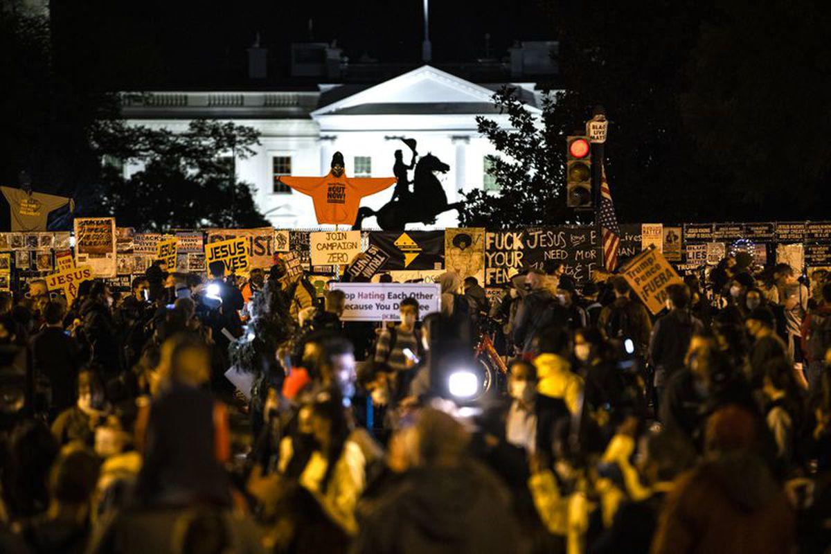 White House anti-Trump protesters
