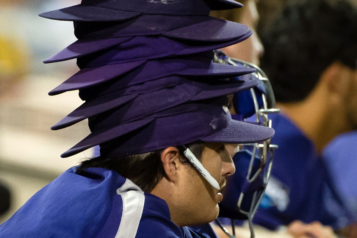 This TCU college player knows how to pass the time in a marathon game.