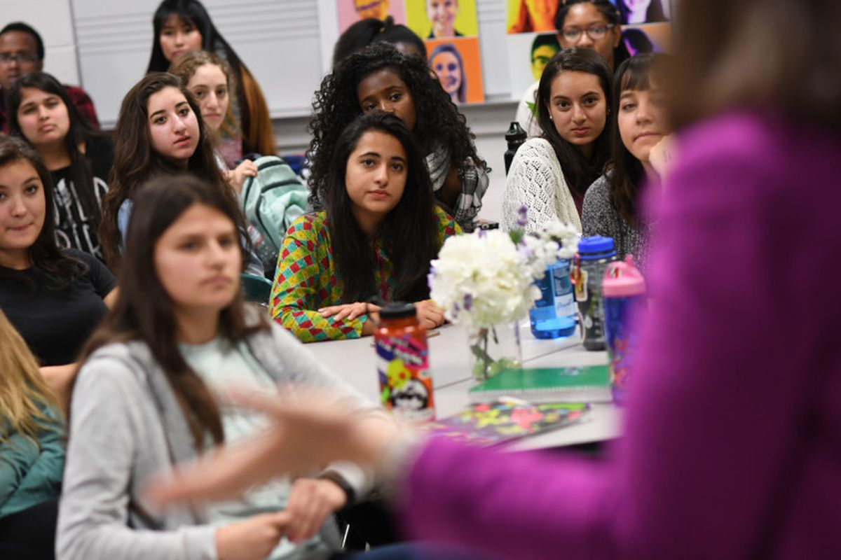 Students at Denver's South High School. (Photo by RJ Sangosti/The Denver Post)
