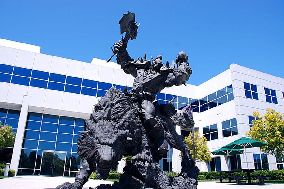 Blizzard Orc statue