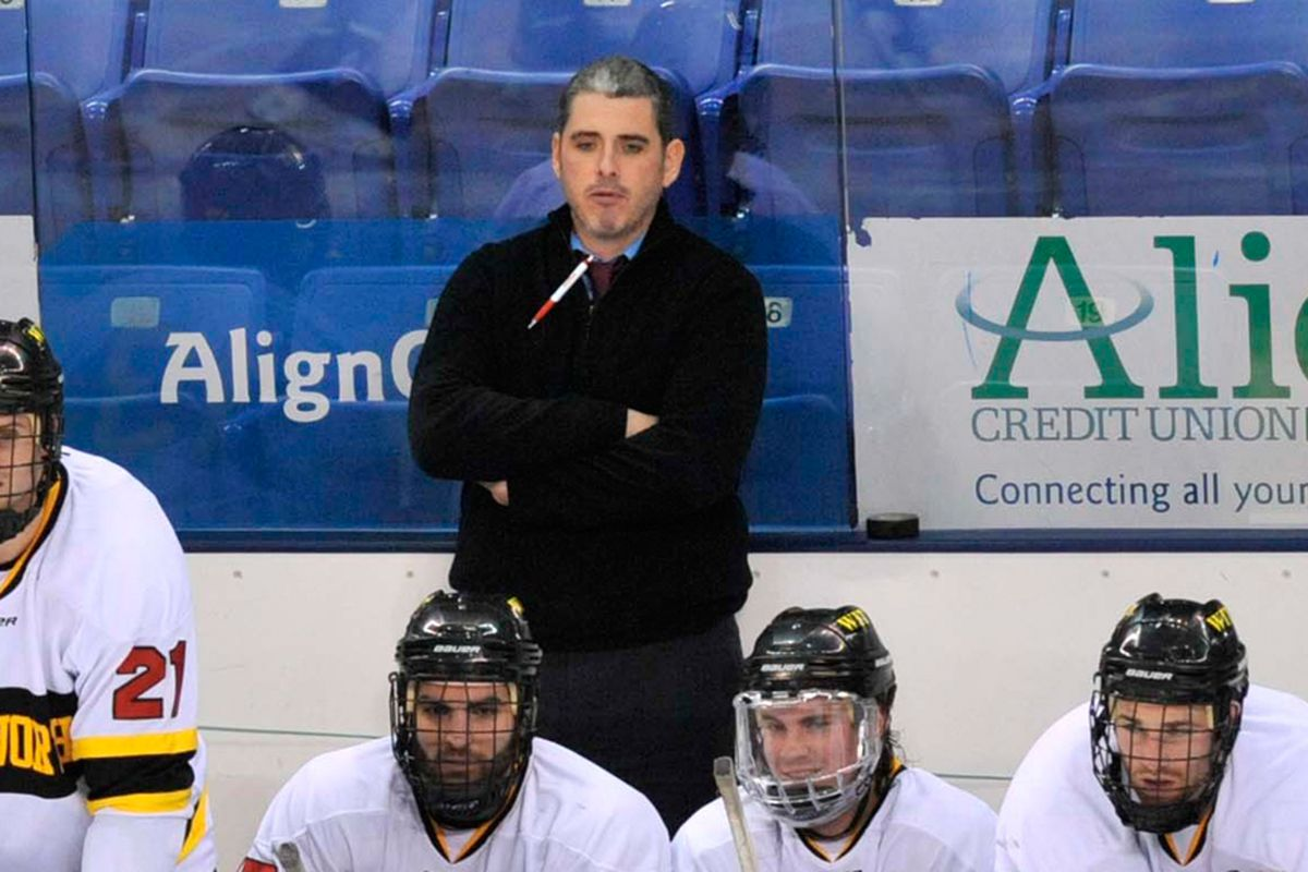 Endicott head coach R.J. Tolan