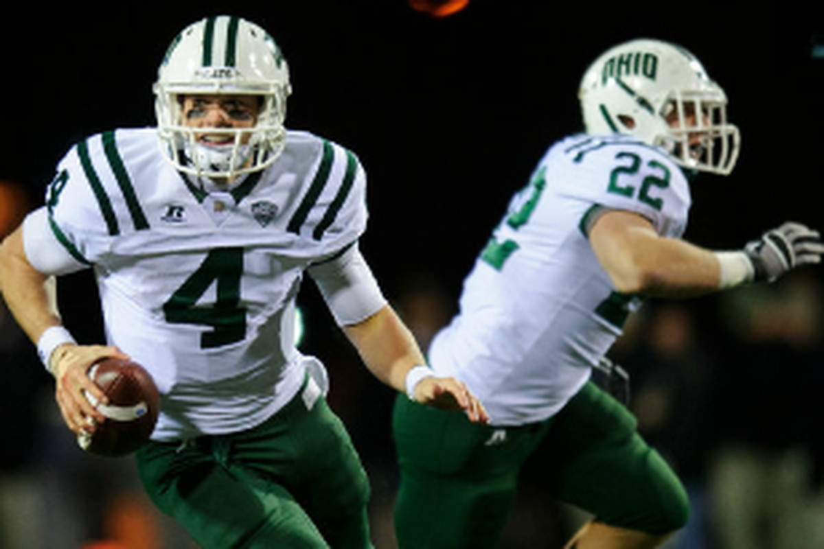 Tyler Tettleton did a little bit of everything as the Ohio Bobcats captured a close 29-28 win over Bowling Green to secure a spot in the MAC Championship Game. (Photo Credit: OhioBobcats.com)