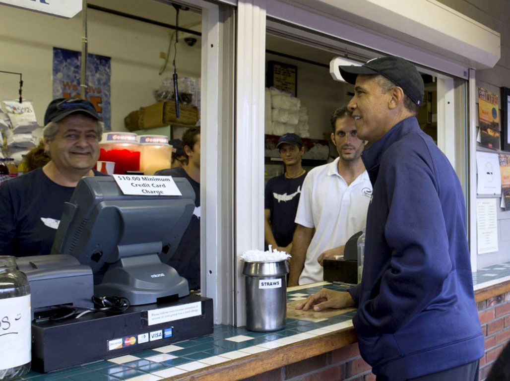 Former President Barack Obama and his family are reportedly shopping for a vacation home on Martha's Vineyard.   AP file photo