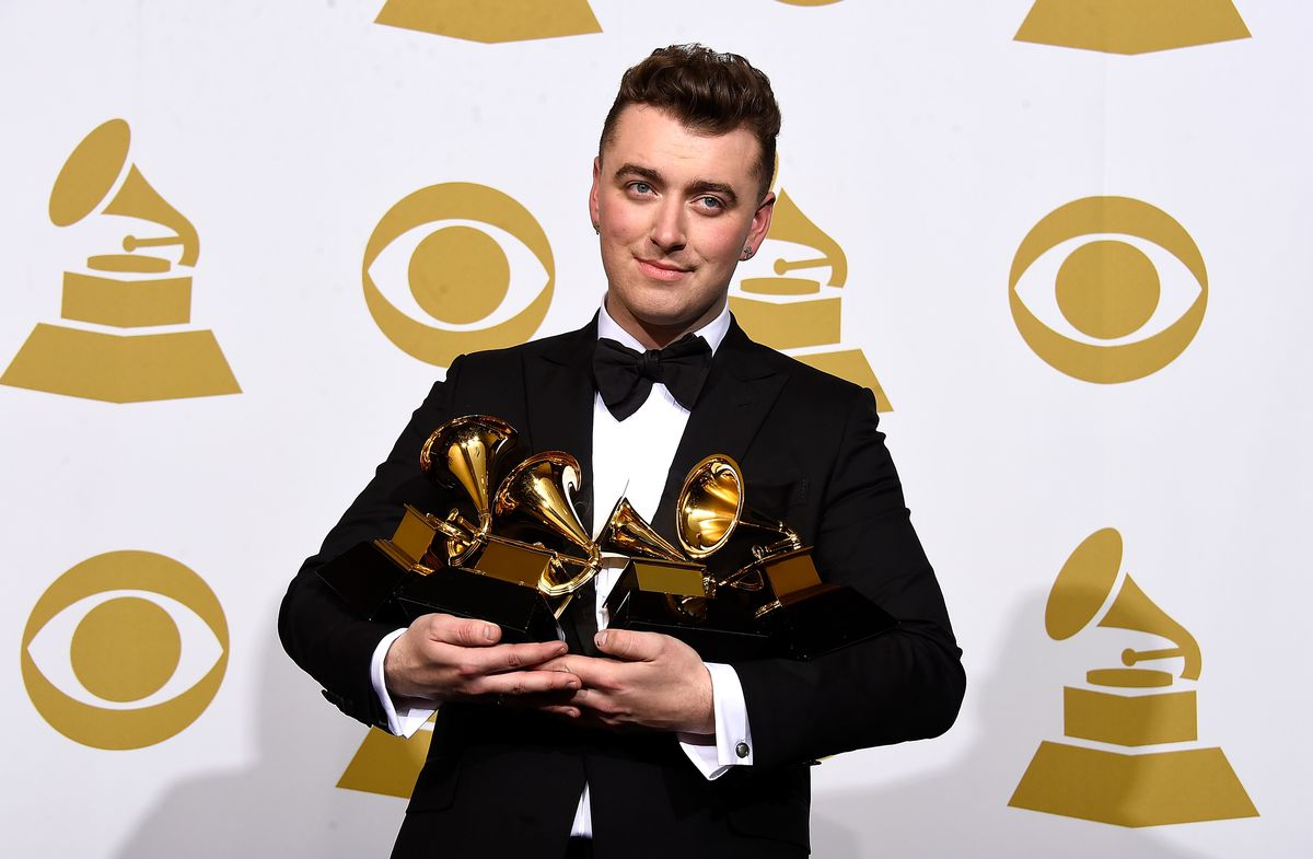 Sam Smith won big at the 2015 Grammys, taking home four trophies including Best New Artist, Song of the Year, and Record of the Year.