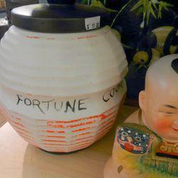 Vintage McCoy fortune cookie jar, $95