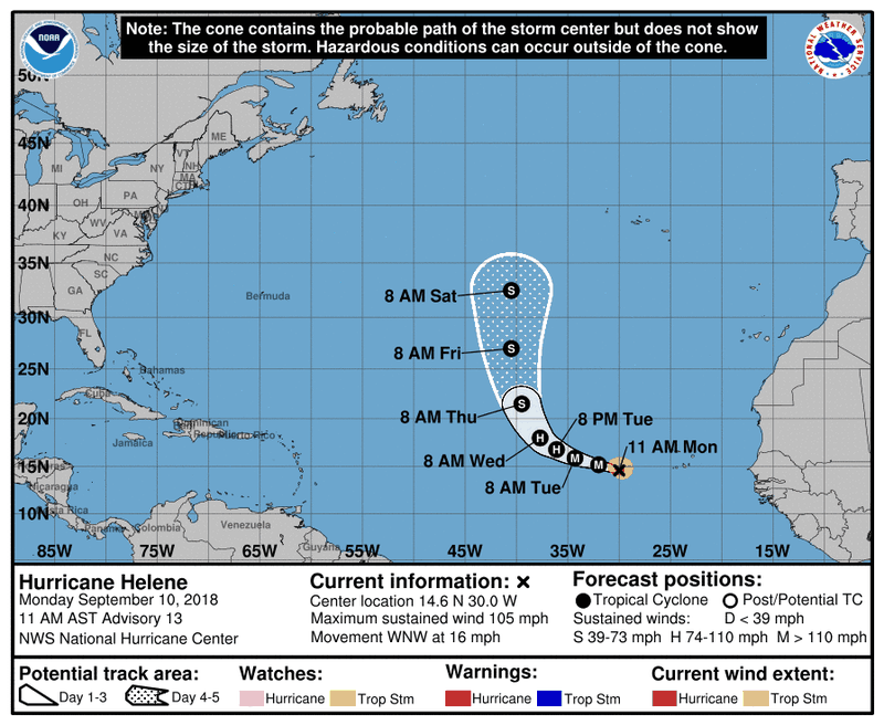143815_5day_cone_no_line_and_wind Hurricane Florence: what we know about the powerful storm heading for the Carolinas