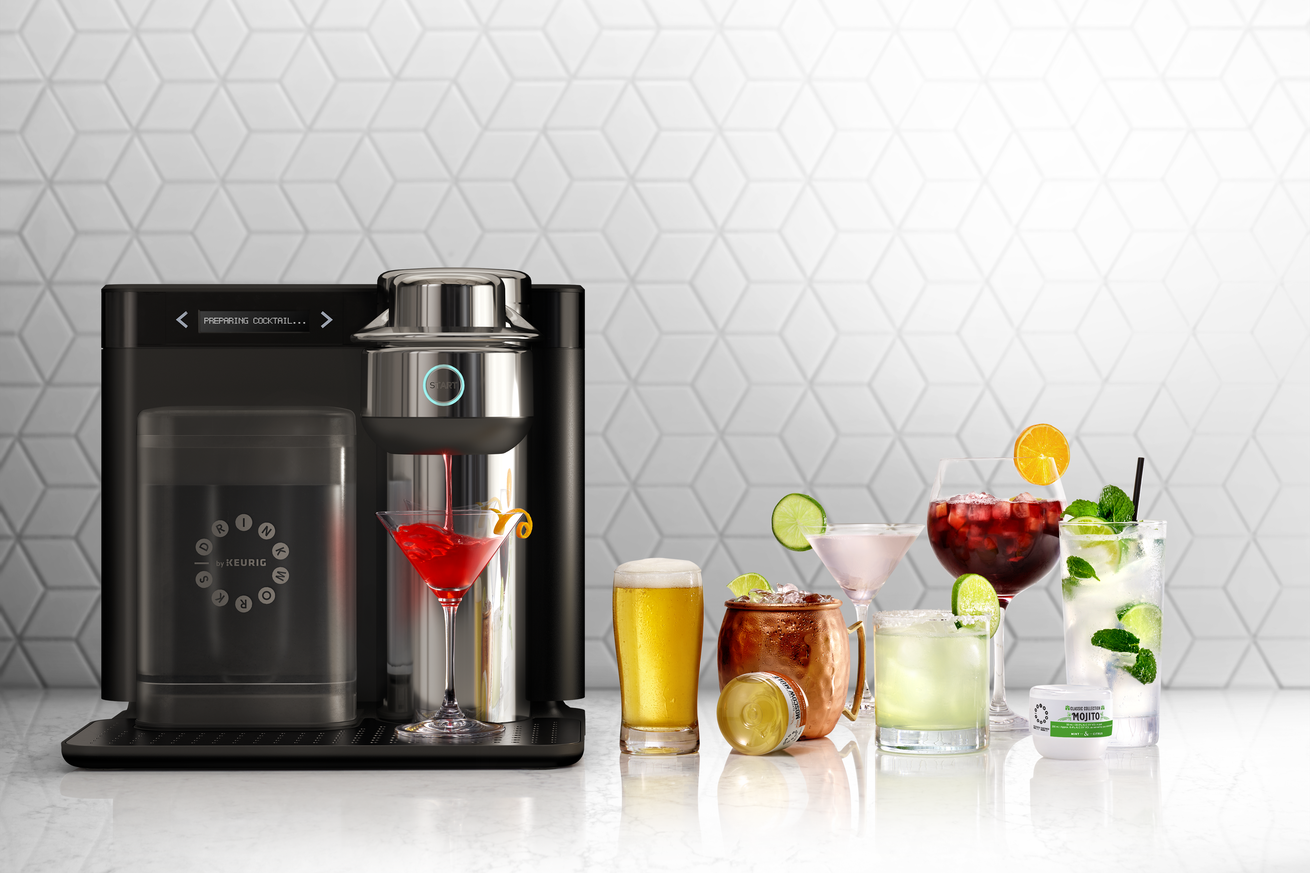 keurig launches a cocktail making pod machine