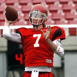 Utah quarterback Travis Wilson Thursday, April 5, 2012, in Salt Lake City, Utah.
