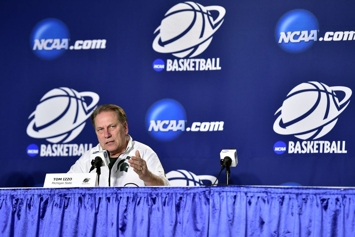 """""""No matter the score, you must remain civil in the comments section,"""" a demonstrative Tom Izzo said (probably)."""