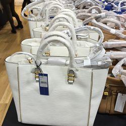 Mini white Perry tote $185