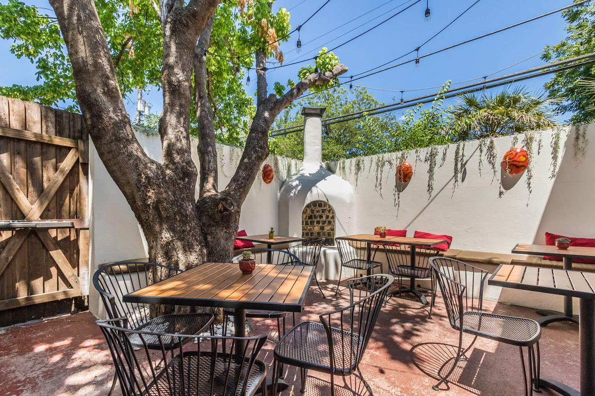 The patio at Vino Vino