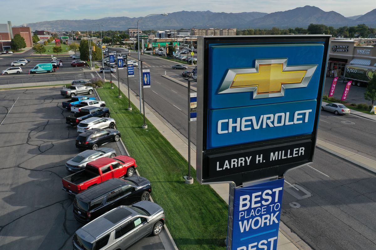 The Larry H. Miller Chevrolet dealership in Murray is pictured on Wednesday, Sept. 29 2021.