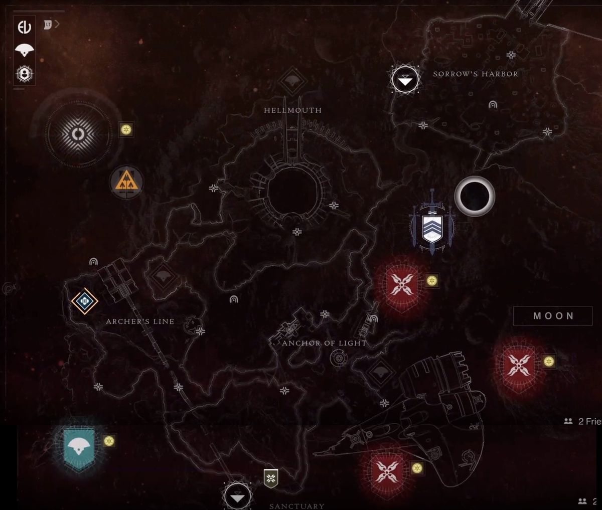 Destiny 2: Shadowkeep's stitched together Moon map