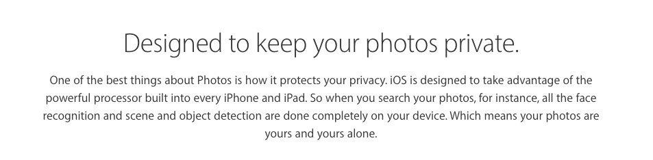Apple has been categorizing all your 'brassiere' photos for over a