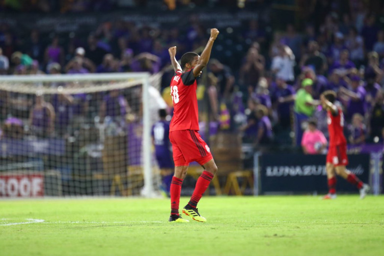 USL Photo - Toronto FC II's Dante Campbell celebrates a goal and a 4-1 road win over Louisville City FC