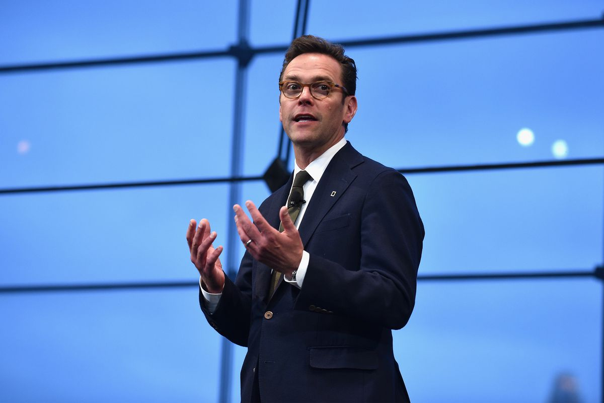 21st Century Fox CEO James Murdoch onstage