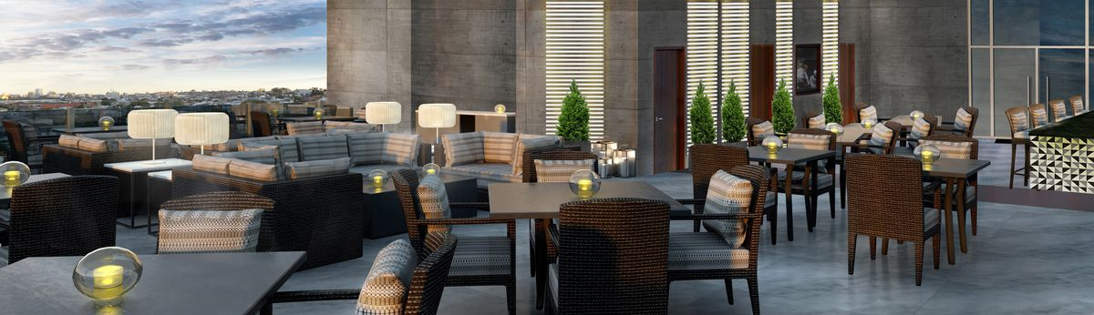 A rendering of Overdrive Lounge.