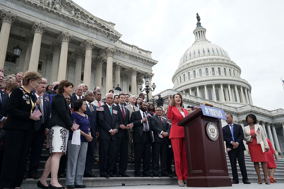 House Democratic Leader Pelosi And House Dems Hold News Conference On 'The Keep Families Together Act'
