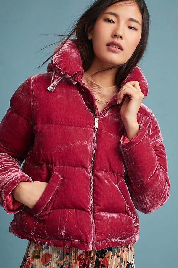 Rachel Antonoff Velvet Puffer Coat, $398