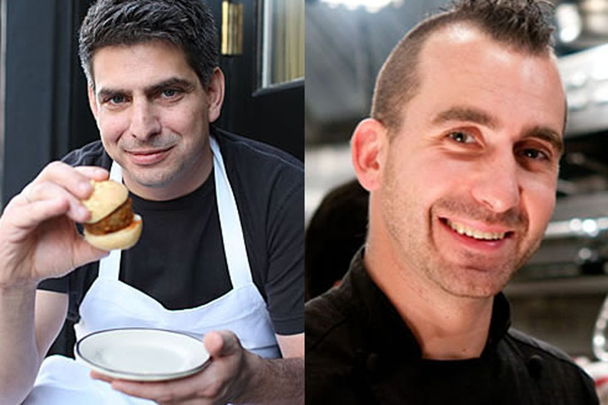Joey Campanaro and Marc Forgione square off in Iron Chef America, along with their siblings.