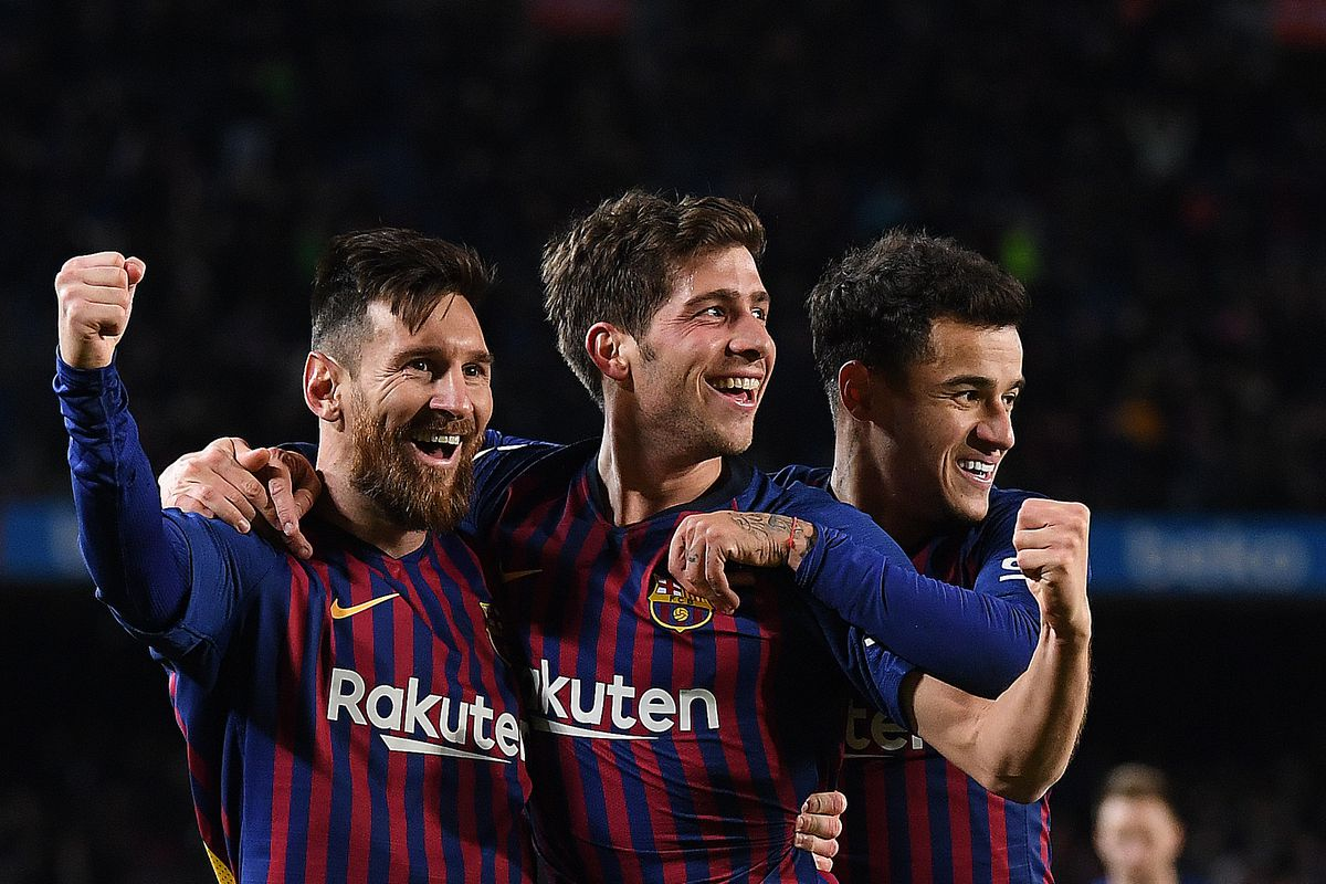 How will Barcelona line up against Lyon in the Champions League?