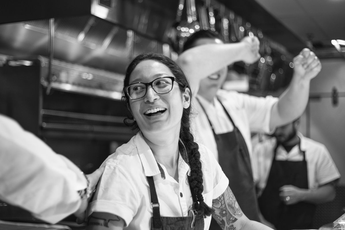 Chef Angela Hernandez, the mind behind Top Knot's casual, globally-influenced cuisine.