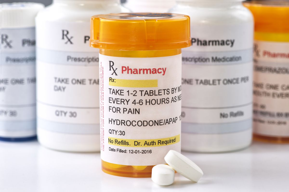 Photo of hydrocodone pills, a commonly prescribed opioid