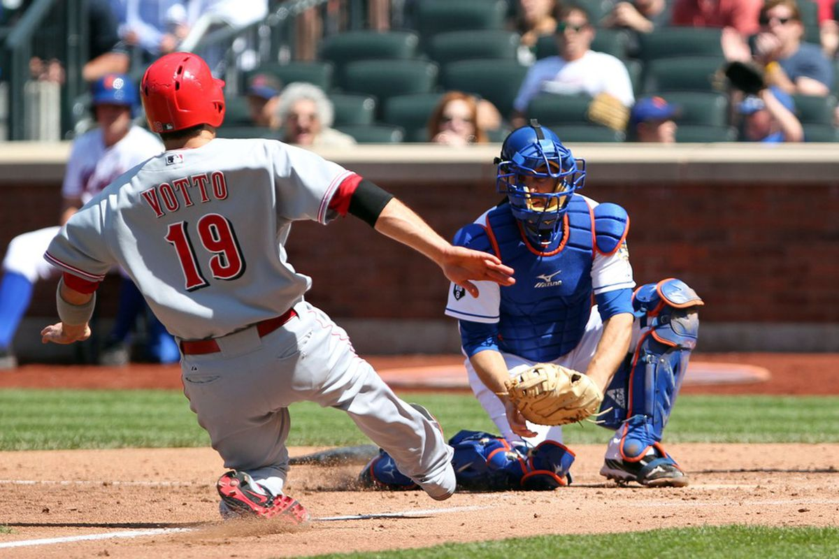 The New York Mets welcome Joey Votto and the Cincinnati Reds to Citi Field for a three-game series. Credit: Anthony Gruppuso-US PRESSWIRE