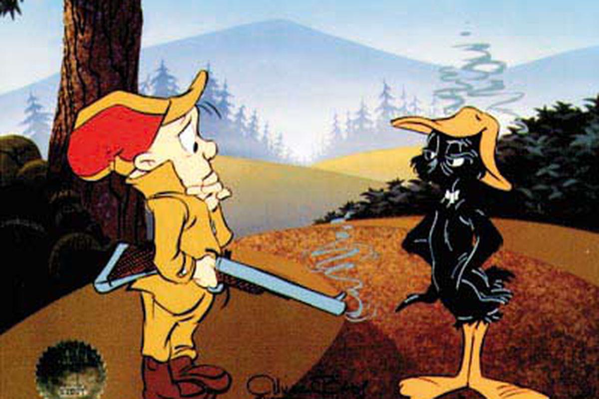 "This one is a favourite of mine.  Duck season!  Rabbit season!  Duck season!  (via <a href=""http://www.alexross.com/81122-big.jpg"">www.alexross.com</a>)"