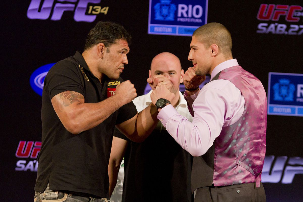 Photos from the UFC® 134 Press Conference in Rio de Janero, Brazil.