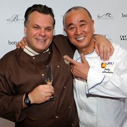 Francois Payard and Nobu at the Grand Tasting. Photo by Ethan Miller/Getty Images.