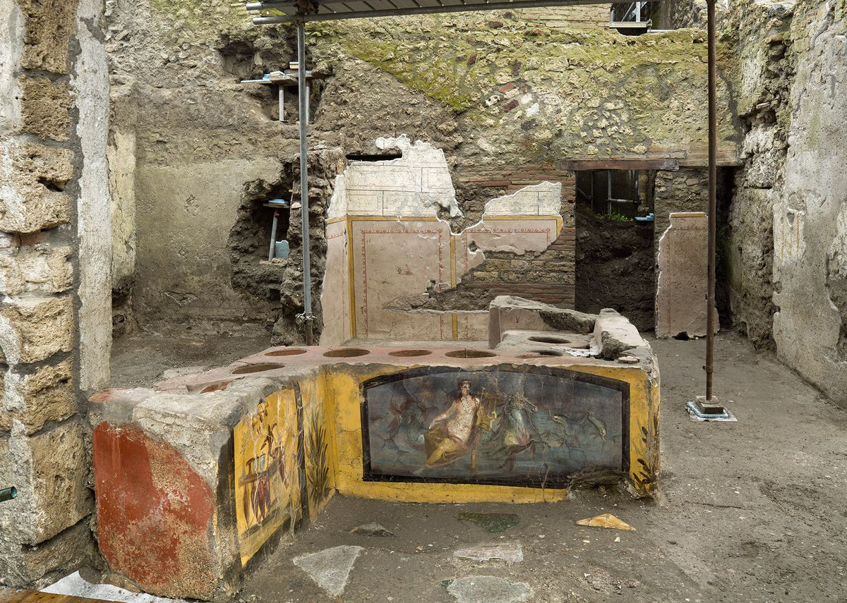 Pompeii Archaeological Park's longtime chief, Massimo Osanna said in a statement last week that 80 fast-food eateries have been found at Pompeii, Italy. It is the first time such an eatery — known as a thermopolium since it serve hot foods — had been entirely excavated.