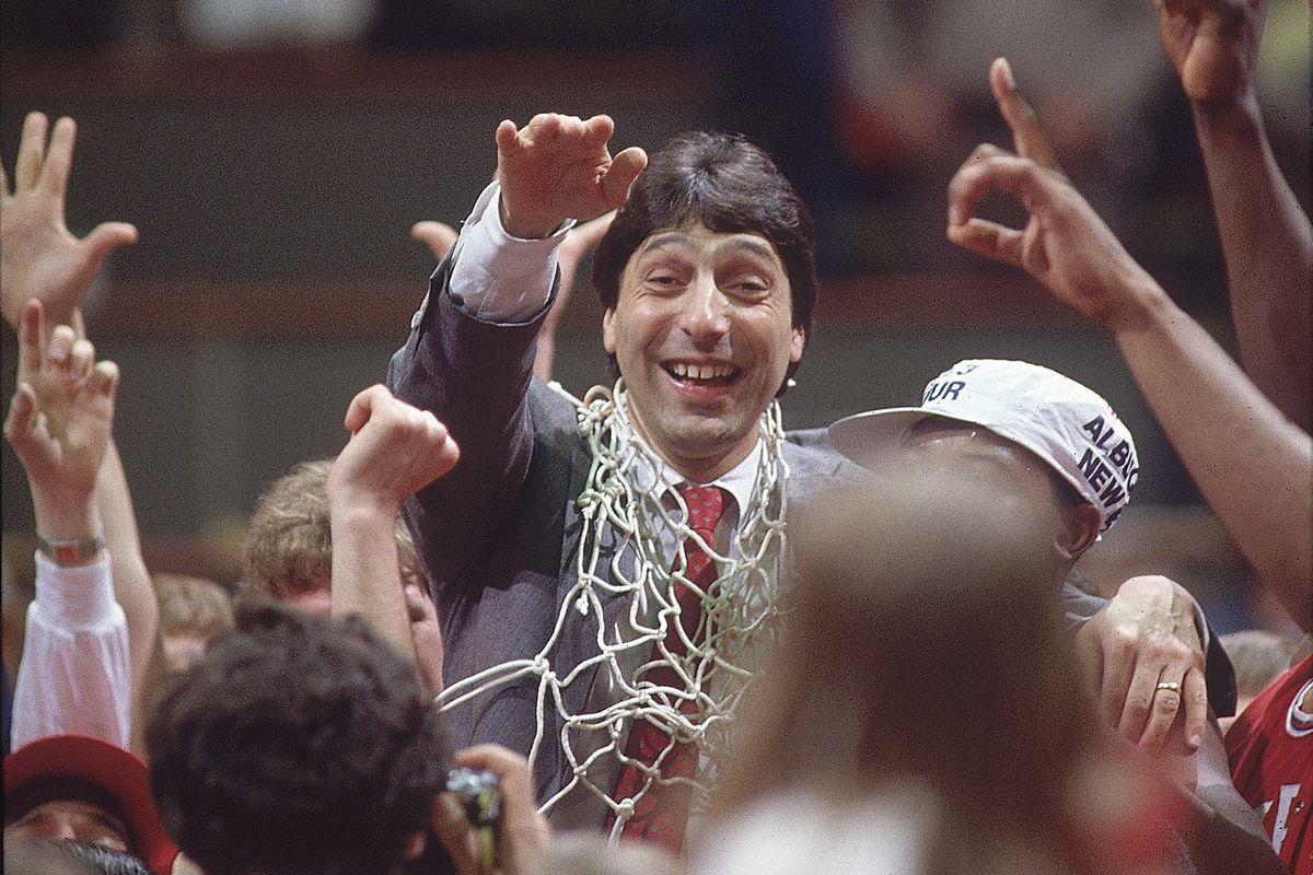 North Carolina State Coach Jim Valvano, 1983 NCAA National Championship