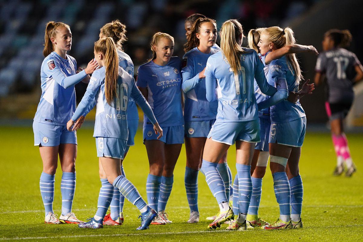Manchester City v Leicester City - Vitality Women's FA Cup - Quarter Final - Academy Stadium