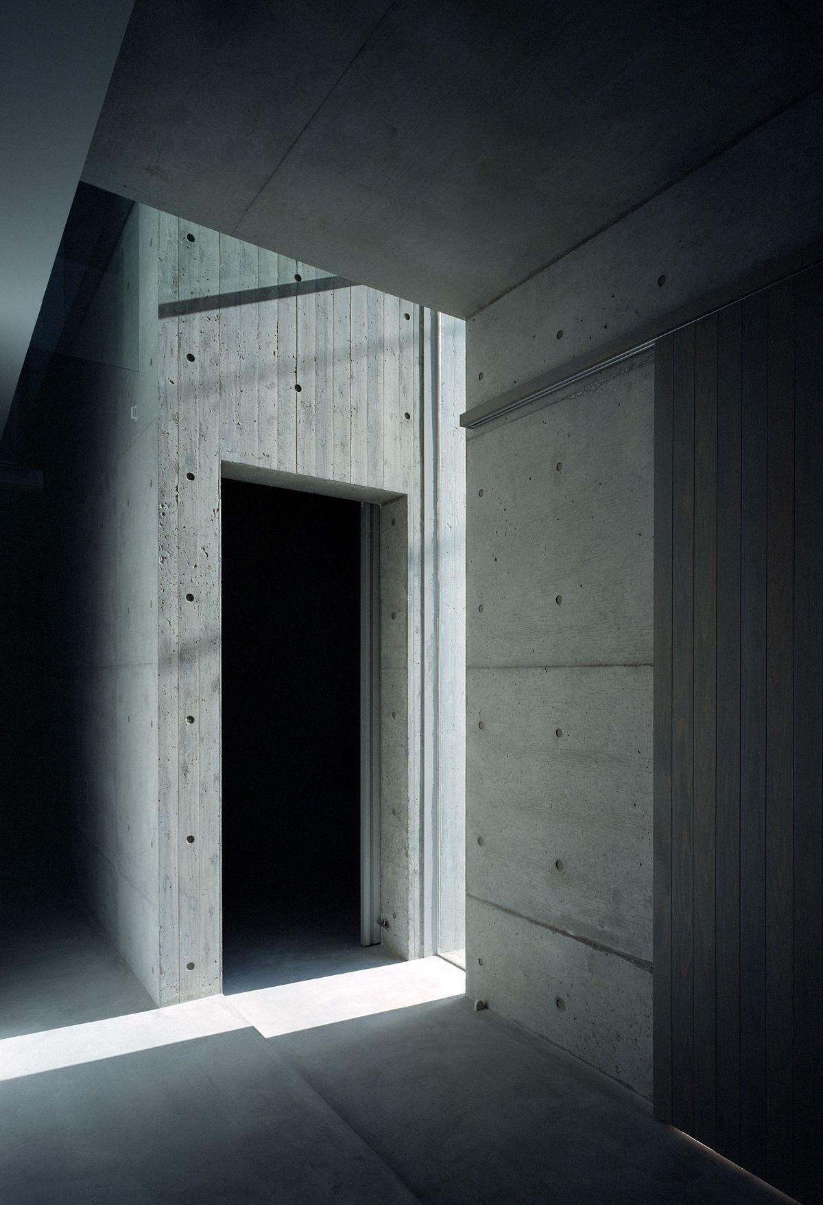 Sunlight shining onto concrete