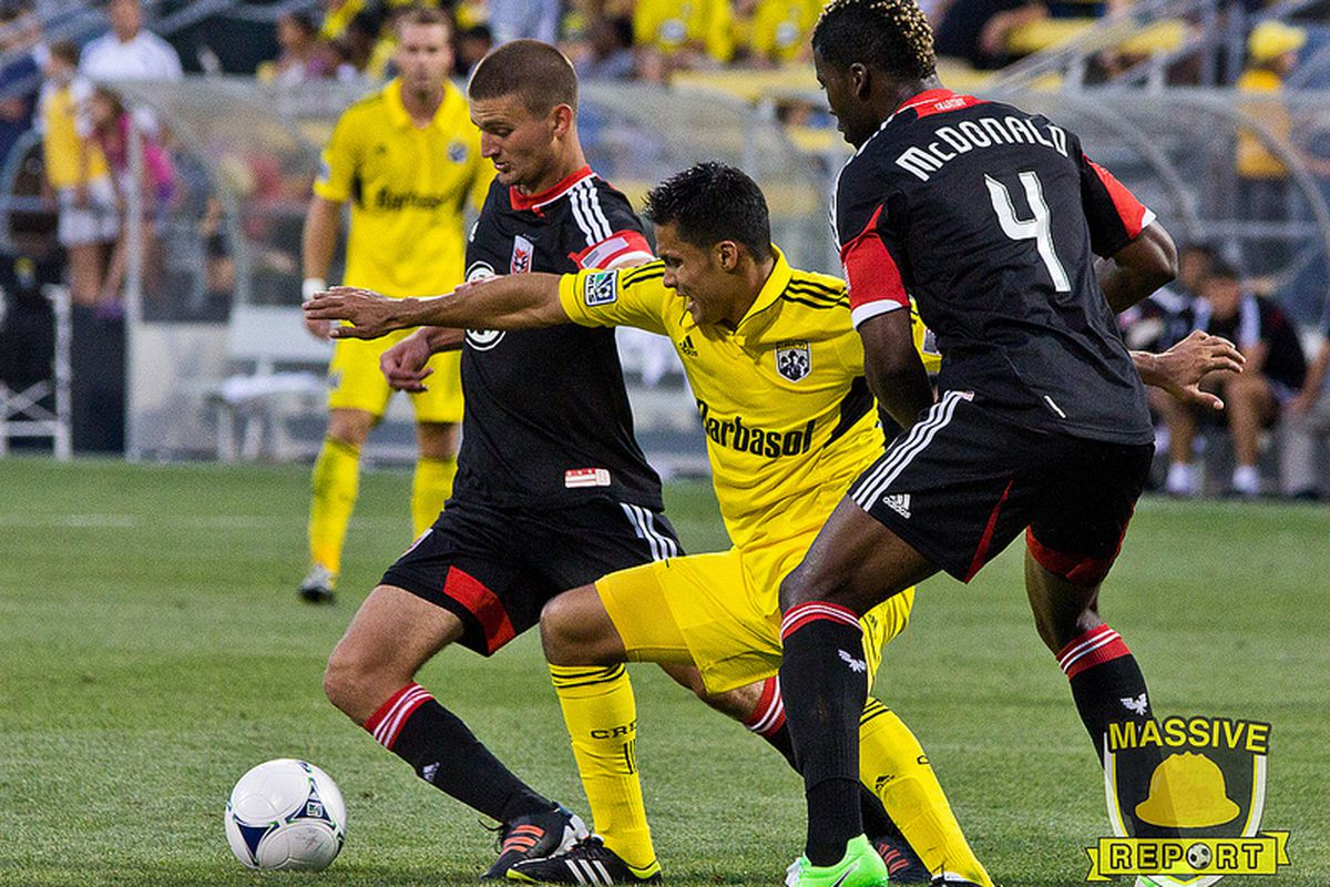 MLS Player of the Week and Crew Player of the Month, Jairo Arrieta. (Photo by Sam Fahmi / Massive Report)
