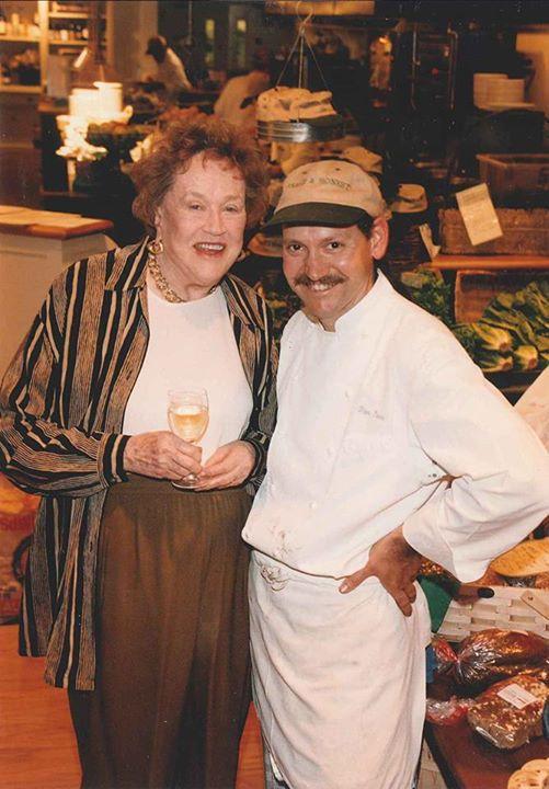 Peter Davis and Julia Child