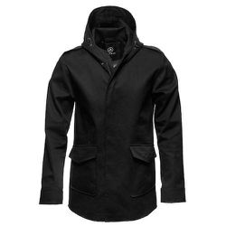 """<strong>Aether</strong> Stormy Jacket in Jet Black, <a href=""""http://www.aetherapparel.com/shop/mens/shells/stormy/"""">$495</a>"""