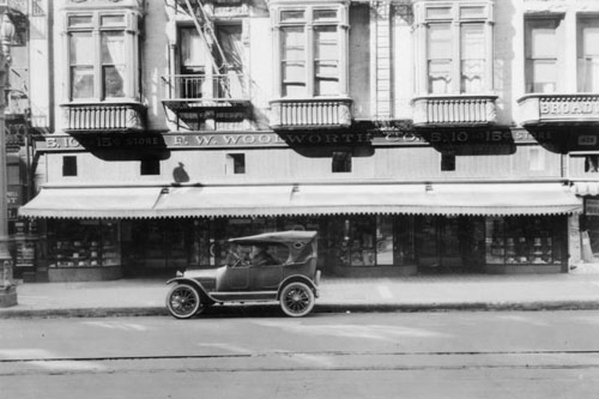 """Photo of Woolworth's Downtown in the '20s via <a href=""""http://www.flickr.com/photos/dogwelder/410694905/"""">dogwelder</a>/Flickr"""