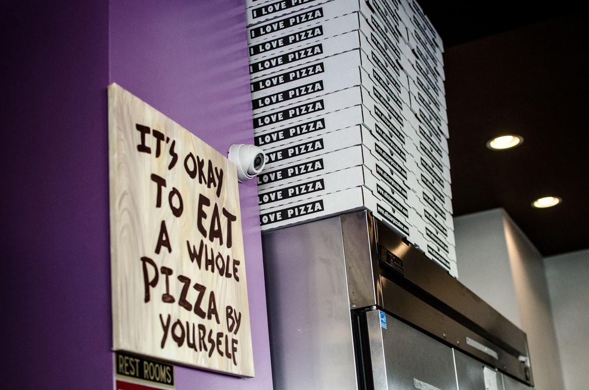 Interior of All Star Pizza Bar in Cambridge