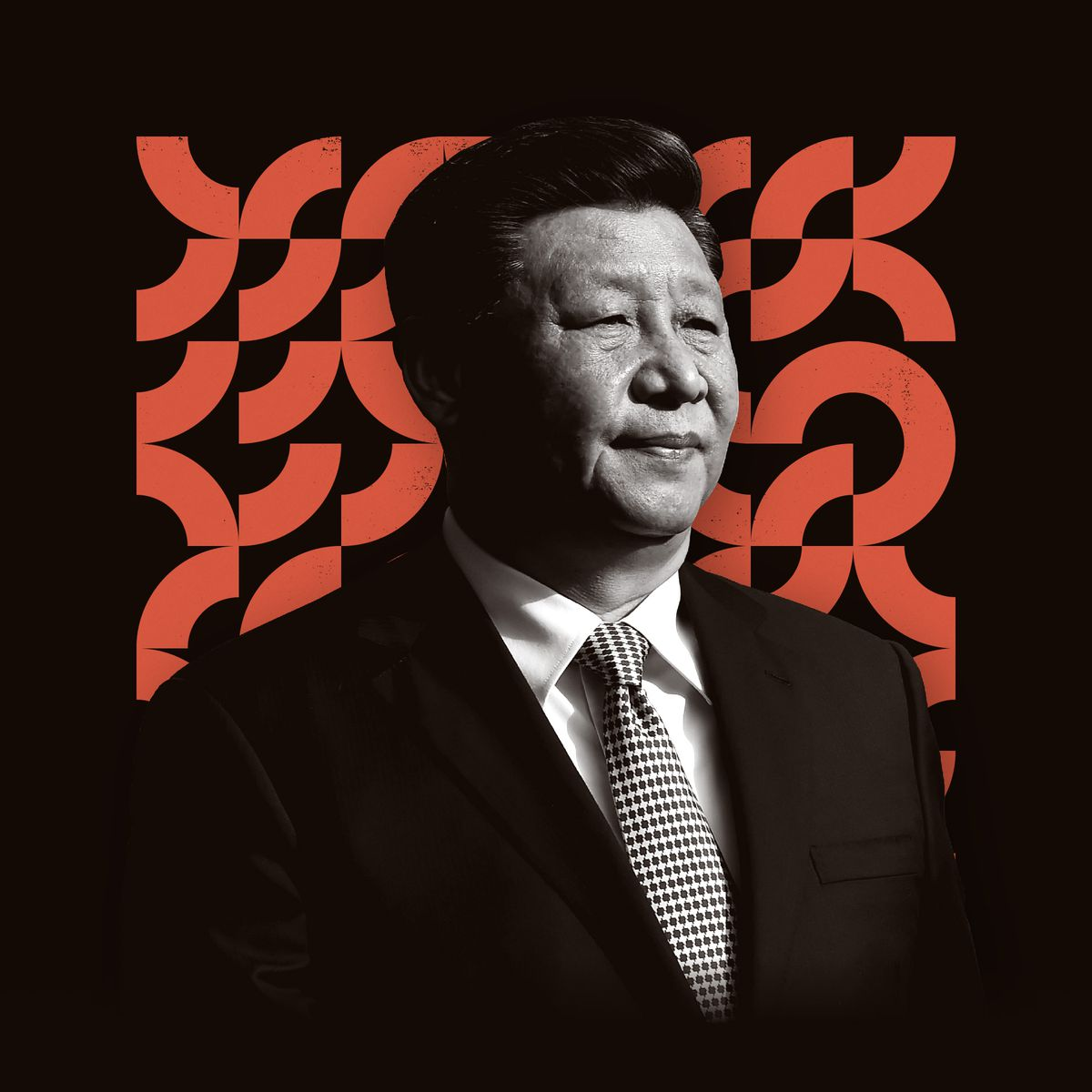 A photo illustration featuring Chinese president Xi Jinping.