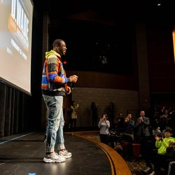 Dwyane Wade talked with students at Richards High School about his feature documentary, D.Wade: Life Unexpected.