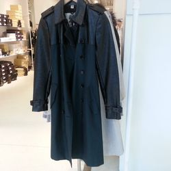 Burberry Forest Green and Black Trench Coat, $600 (originally $1995)