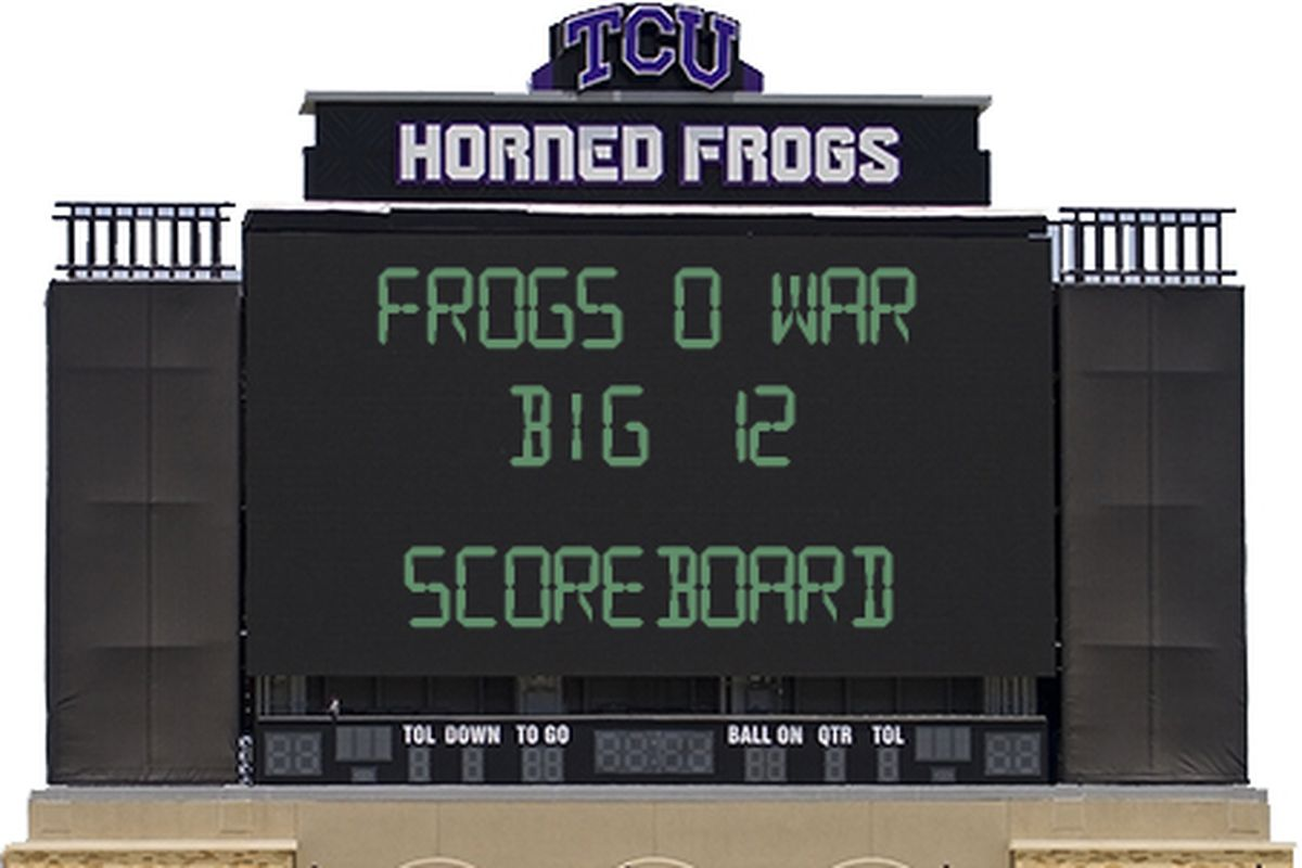 The only place TCU will appear on a scoreboard until 2014