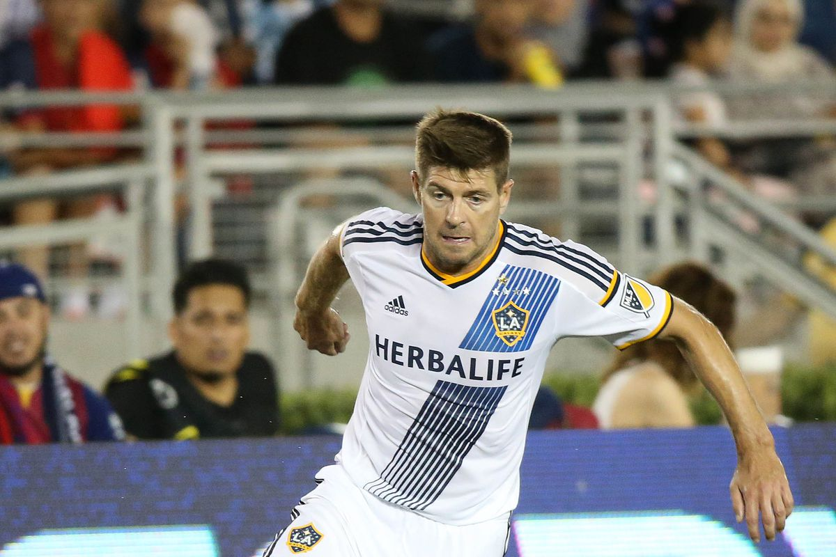 Steven Gerrard could be a notable absentee for LA Galaxy on Saturday with an injury