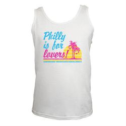 """<a href=""""http://www.cheesesteaktees.com/philly-is-for-lovers/"""">Philly is for Lovers Tank</a>, $24 at South Street's Cheesesteaktees."""